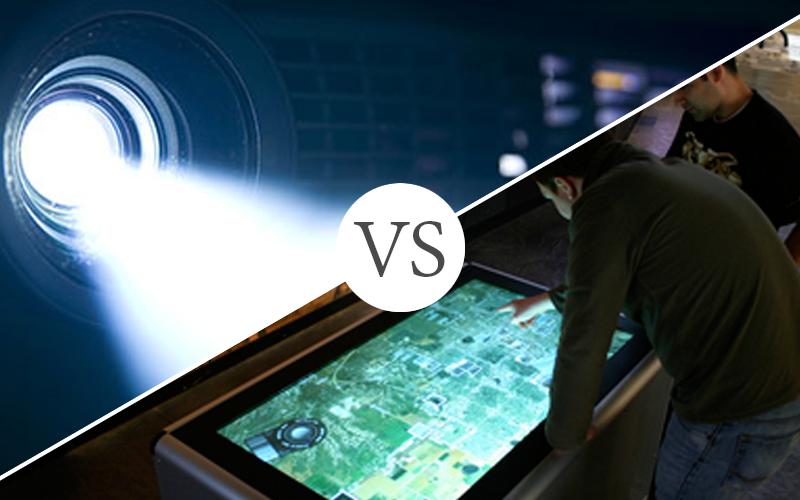 Interactive Displays vs. Projectors